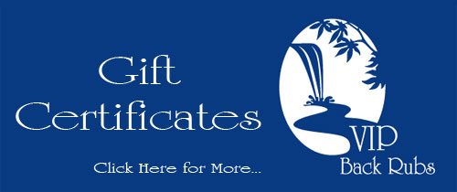 Cincinnati massage gift certificates for friends and loved ones.